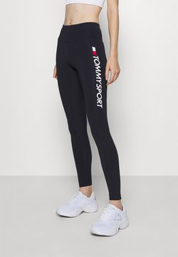 Tommy Hilfiger - LEGGING HIGHWAIST LOGO - Trikoot - blue