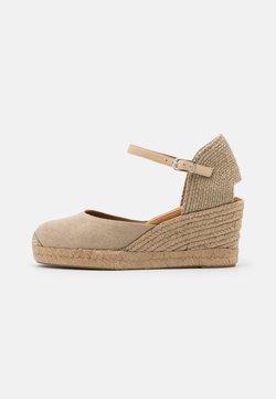 Unisa - CACERES - Korkeakorkoiset sandaalit - natural