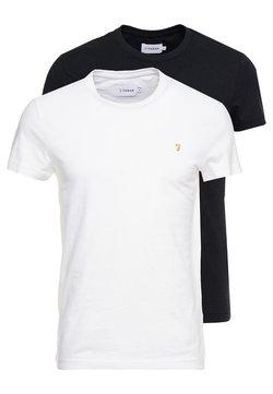 Farah - FARRIS TWIN 2 PACK - T-shirt basic - white/black