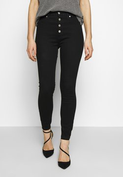 Calvin Klein Jeans - HIGH RISE SUPER ANKLE - Jeans Skinny Fit - clean black shank