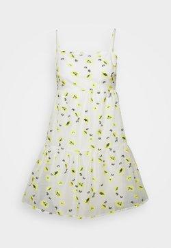 Never Fully Dressed - FLOWER ORGANZA MINI DRESS - Freizeitkleid - white
