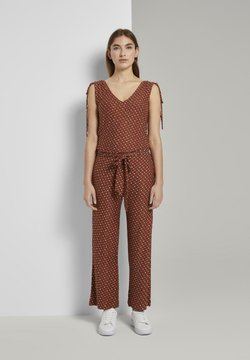 TOM TAILOR - OVERALLS CULOTTE - Combinaison - brown geometric design