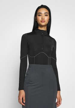 Nly by Nelly - CONTRAST SEAM - Body - black