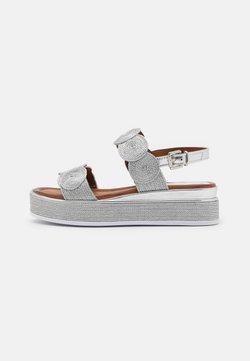 Marco Tozzi - Korkeakorkoiset sandaalit - silver