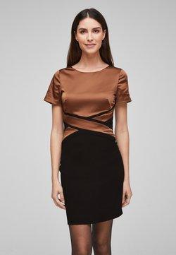 s.Oliver BLACK LABEL - Cocktailkleid/festliches Kleid - black/brown