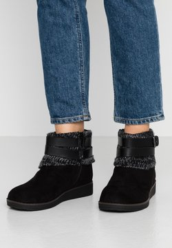 Evans - WIDE FIT ANJALI - Ankle boots - black