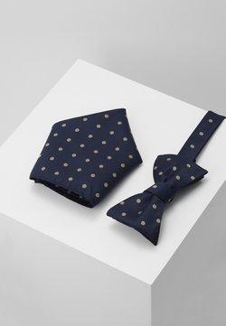 Selected Homme - SLHMICO BOWTIE BOX SET - Tie - dark navy/comb