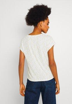 ONLY - ONLMANYA GLITTER V NECK  - T-Shirt print - cloud dancer