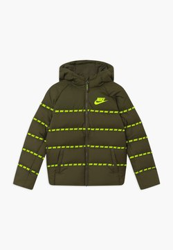 Nike Sportswear - UNISEX - Veste mi-saison - cargo khaki/volt