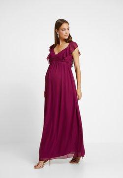 Little Mistress Maternity - NIKKI MULBERRY FRILL MAXI DRESS - Ballkleid - mulberry