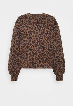 Abercrombie & Fitch - PATTERN CREW - Sweatshirt - brown