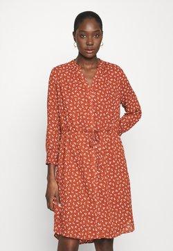 Selected Femme - SFDAMINA DRESS  - Freizeitkleid - dark red