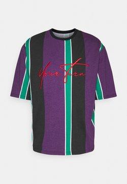 YOURTURN - UNISEX - T-Shirt print - purple /green /black