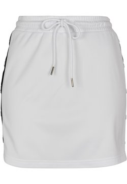 Urban Classics Curvy - LADIES TRACK SKIRT - A-Linien-Rock - white