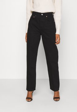 Gina Tricot - 90S HIGH WAIST - Relaxed fit -farkut - black