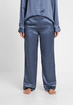 ASCENO - BOTTOM - Pyjama bottoms - blue/black
