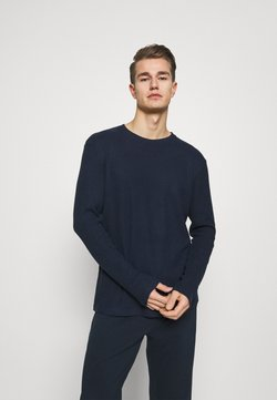 Pier One - RIBBED LOUNGE TOP - Nachtwäsche Shirt - dark blue
