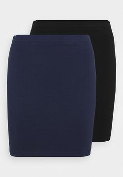 Even&Odd Petite - 2 PACK - Minifalda - dark blue/black