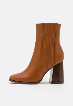 Even&Odd - High heeled ankle boots - cognac