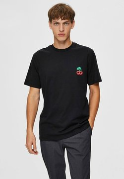 Selected Homme - RELAXED FIT - T-Shirt print - black