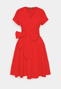 Lauren Ralph Lauren - JILARTA SHORT SLEEVE DAY DRESS - Vapaa-ajan mekko - bright hibiscus