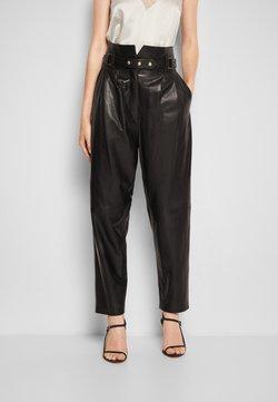 Iro - KIN - Pantalon en cuir - black