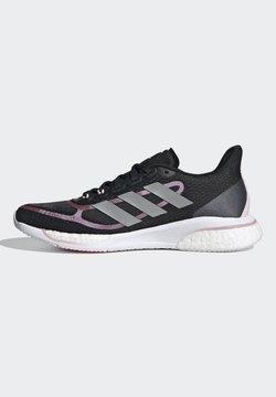 adidas Performance - SUPERNOVA + BOOST BOUNCE PRIMEGREEN RUNNING REGULAR SHOES - Obuwie do biegania treningowe - black
