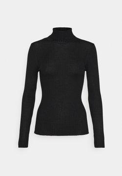Selected Femme Tall - SLFCOSTINA ROLLNECK - Strickpullover - black
