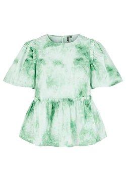 Pieces - MIT KURZEN ÄRMELN PRINT - Bluzka - classic green