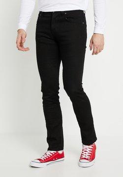 Nudie Jeans - GRIM TIM - Jeansy Slim Fit - dry ever black