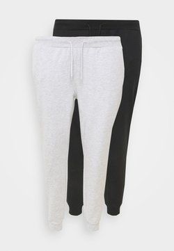 Even&Odd Curvy - 2 PACK SLIM FIT JOGGERS - Jogginghose - black/light grey
