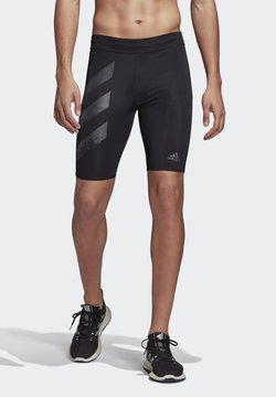 adidas Performance - SATURDAY SHORT TIGHTS - Pantalón corto de deporte - black