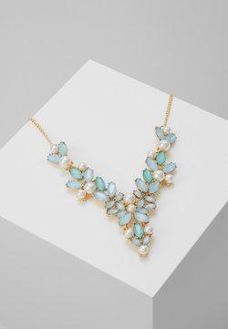 Pieces - PCLINNEA STONE NECKLACE - Necklace - gold coloured/blue