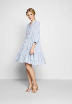 Culture - CUAMINE DRESS - Blusenkleid - cashmere blue