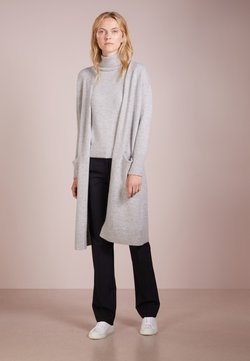 pure cashmere - LONG CARDIGAN - Neuletakki - light grey