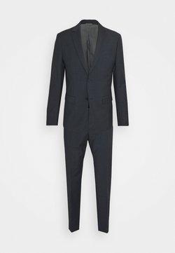 Calvin Klein Tailored - SHADOW GRID EXTRAFINE SUIT - Anzug - blue