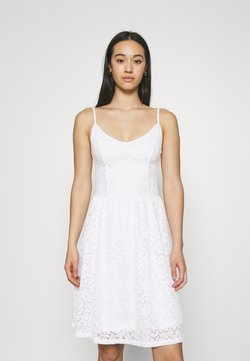 ONLY - ONLNEW ALBA SMOCK MIX DRESS - Juhlamekko - bright white