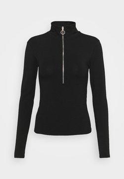 ONLY - ONLLIVE LOVE ZIP - Langarmshirt - black