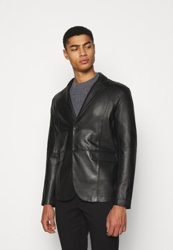 STUDIO ID - VINCENT LEATHER BLAZER - Kurtka skórzana - black