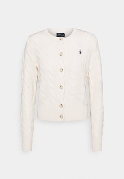 Polo Ralph Lauren - CARDIGAN LONG SLEEVE - Vest - cream