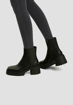 PULL&BEAR - Bottines à plateau - black