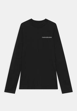 Calvin Klein Jeans - LOGO NECK  - Maglietta a manica lunga - black