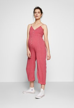 ohma! - NURSING DOTTED OVERALL WITH BUTTONS - Combinaison - strawberry