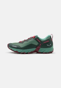 Salewa - ULTRA TRAIN 3 - Zapatillas de trail running - duck green/rhododendon
