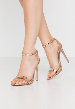 Missguided - BASIC BARELY THERE - Sandalias de tacón - rose gold metallic