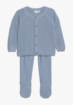 Name it - NBNNEVAN KNIT GIFTBOX - Vest - blue fog