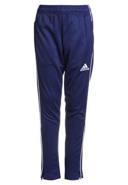 adidas Performance - CORE ELEVEN AEROREADY FOOTBALL PANTS - Verryttelyhousut - dark blue/white