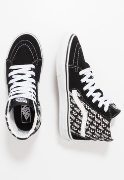 Vans - SK8 UNISEX - Korkeavartiset tennarit - black/true white
