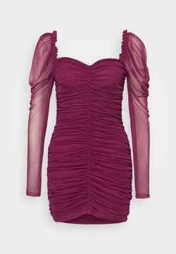 Missguided - LONG SLEEVE DRESS - Cocktail dress / Party dress - plum