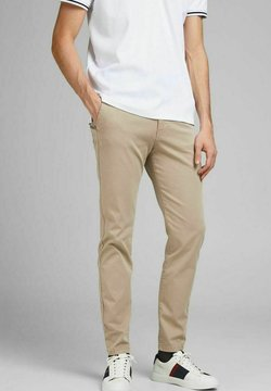 Jack & Jones - MARCO FRED AMA - Chinos - white pepper